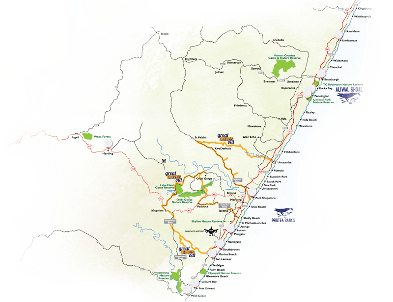 KZN South Coast Map
