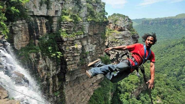 World's Highest Gorge Swing on the KZN South Coast
