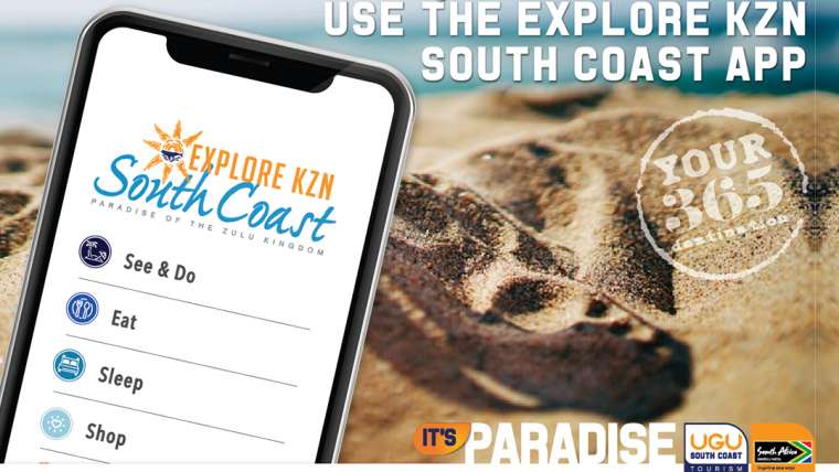 Use the Explore KZN South Coast app