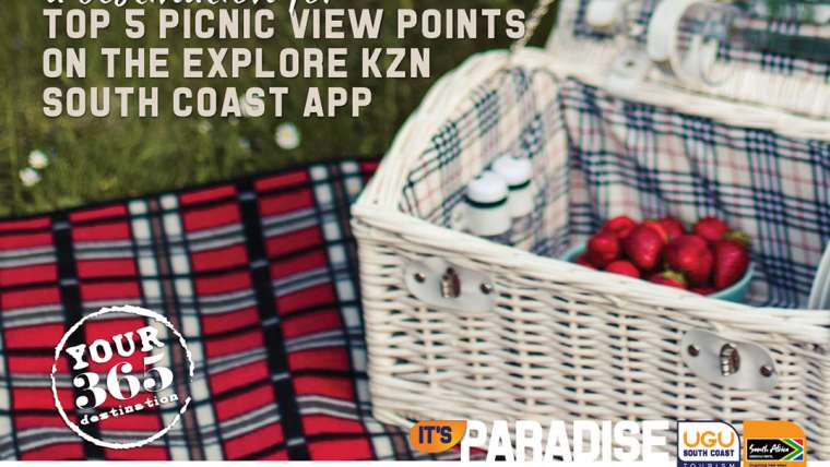 Top 5 picnic viewpoints on the Explore KZN South Coast App
