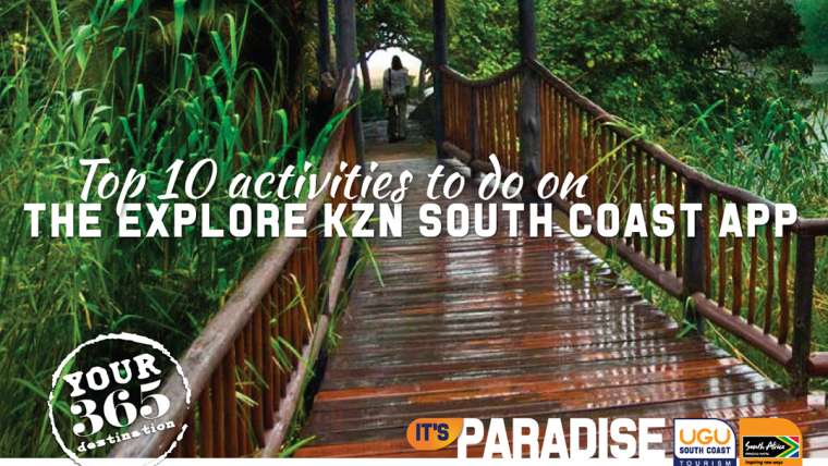 Top 10 activities to do on the Explore KZN south coast app
