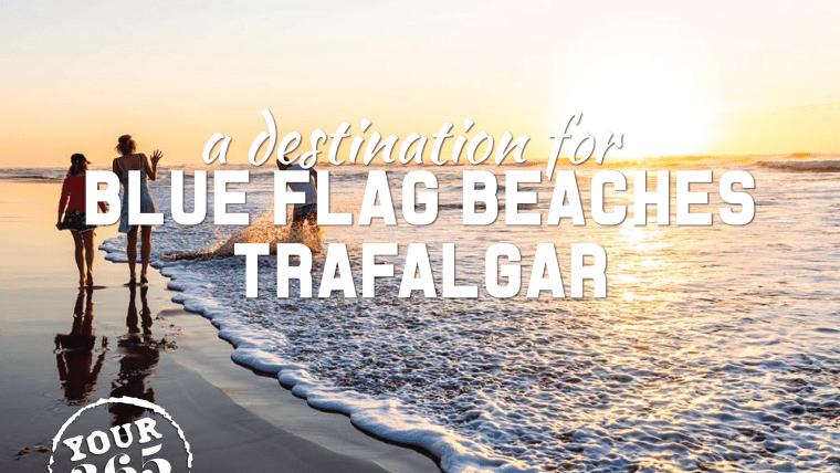 Trafalgar blue flag beach